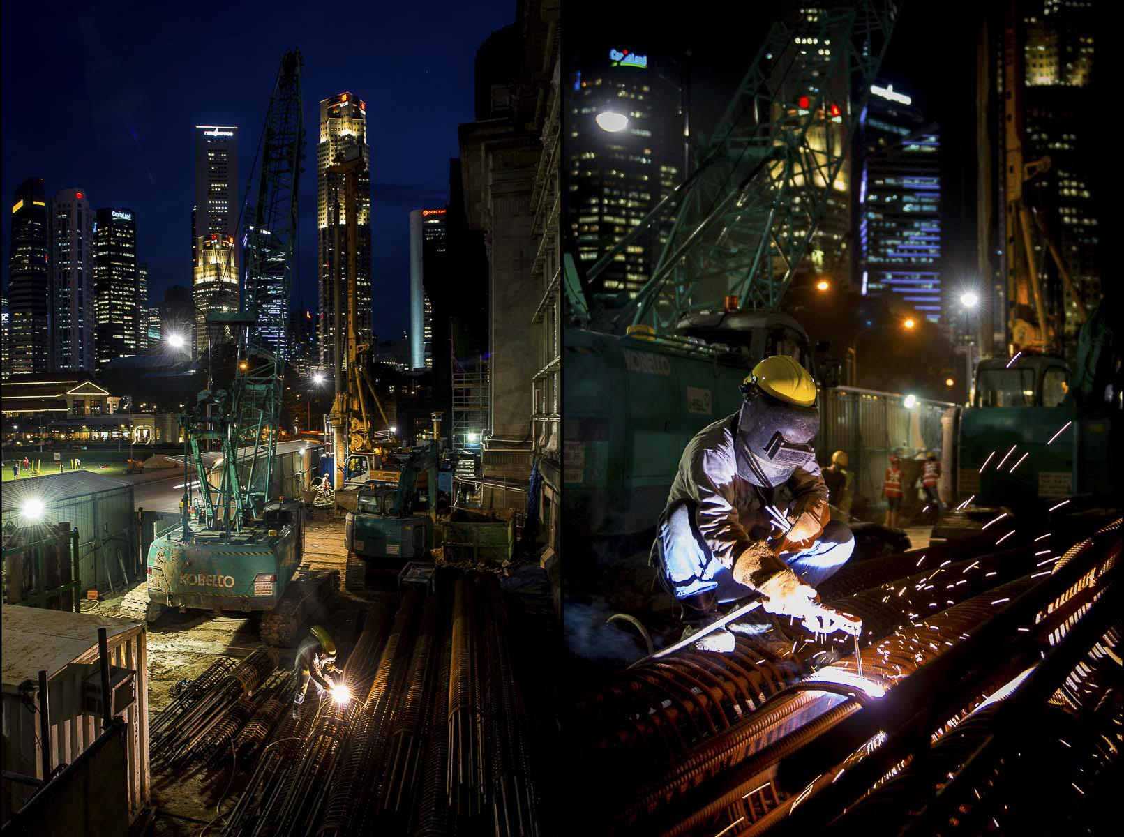 Industrial Photography, Construction, City Skyline